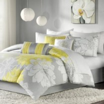 Comfy grey yellow bedrooms decorating ideas (5)