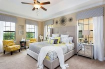 Comfy grey yellow bedrooms decorating ideas (6)