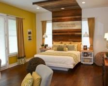 Comfy grey yellow bedrooms decorating ideas (8)