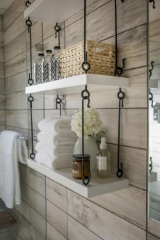 Cool bathroom storage shelves organization ideas 05