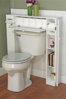 Cool bathroom storage shelves organization ideas 06