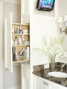 Cool bathroom storage shelves organization ideas 07