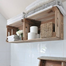 Cool bathroom storage shelves organization ideas 17