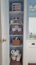 Cool bathroom storage shelves organization ideas 23