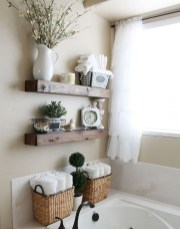 Cool bathroom storage shelves organization ideas 29