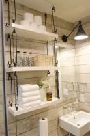 Cool bathroom storage shelves organization ideas 30