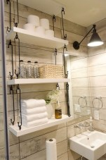 Cool bathroom storage shelves organization ideas 30