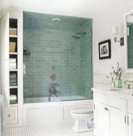 Cool bathroom storage shelves organization ideas 38