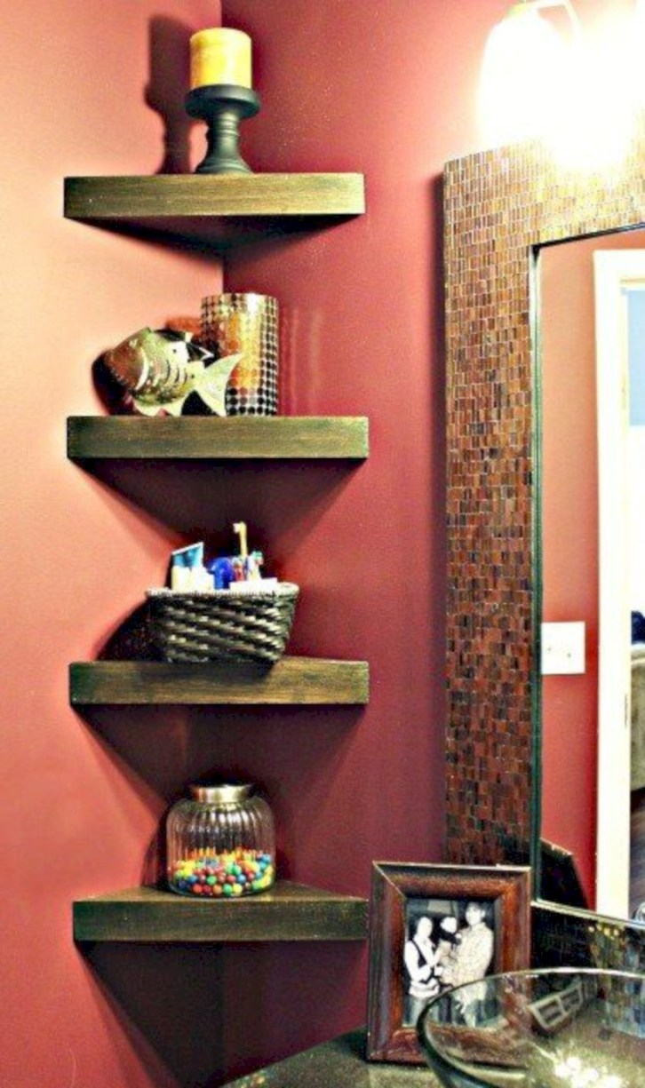Cool bathroom storage shelves organization ideas 42