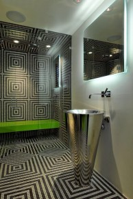Cool modern geometric concept bathroom designs ideas (12)