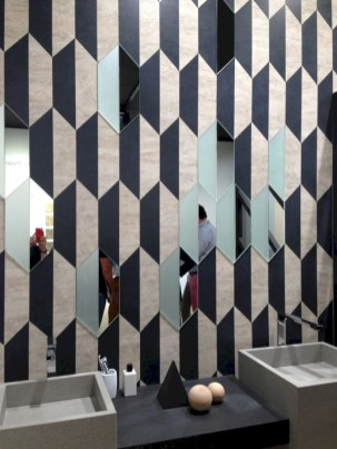 Cool modern geometric concept bathroom designs ideas (22)
