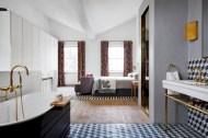 Cool modern geometric concept bathroom designs ideas (24)