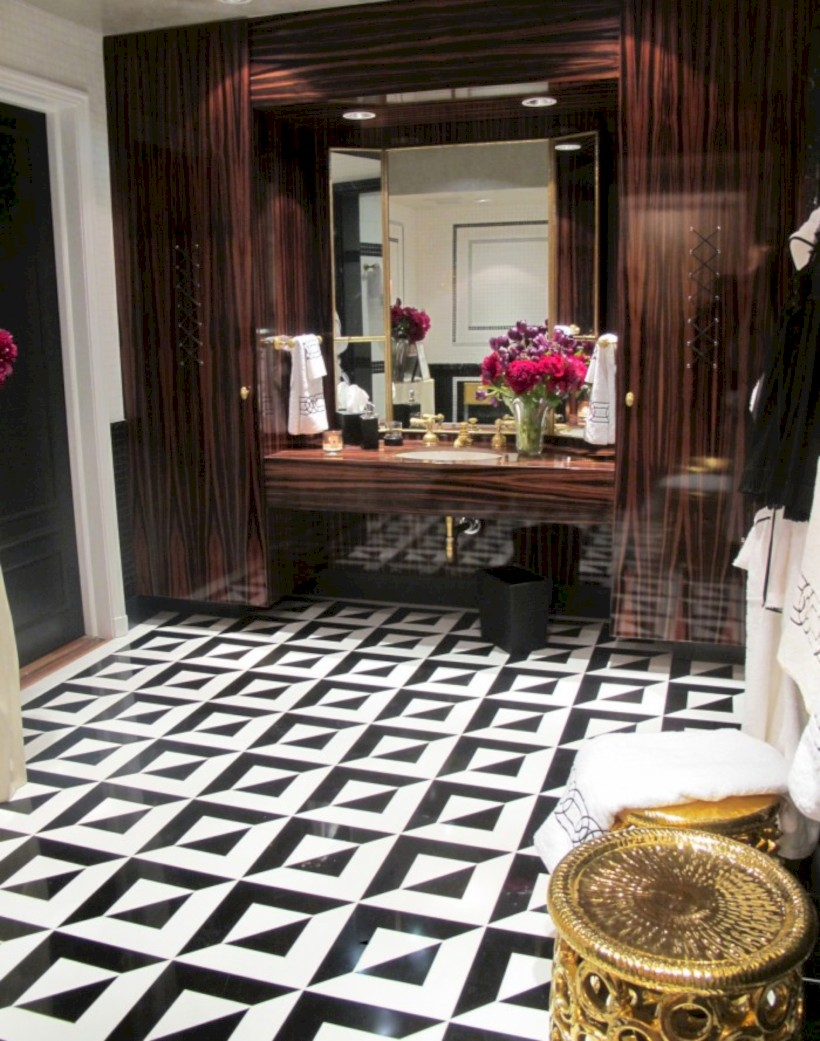 Cool modern geometric concept bathroom designs ideas (36)