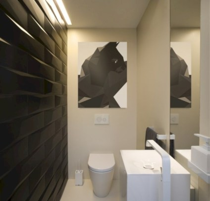 Cool modern geometric concept bathroom designs ideas (39)