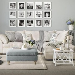 Cozy apartment living room black and white style inspirations ideas 18