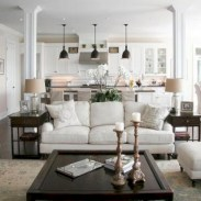 Cozy apartment living room black and white style inspirations ideas 21