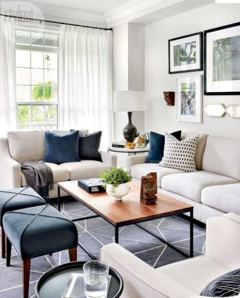 Cozy apartment living room black and white style inspirations ideas 40
