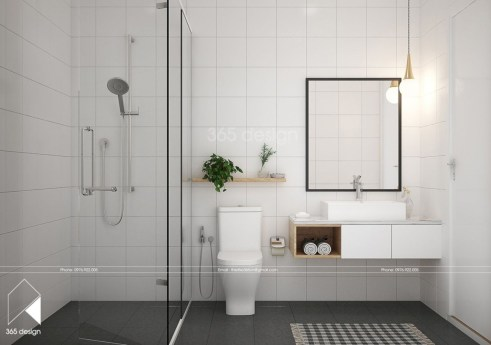 Cozy small scandinavian bathroom design ideas (24)