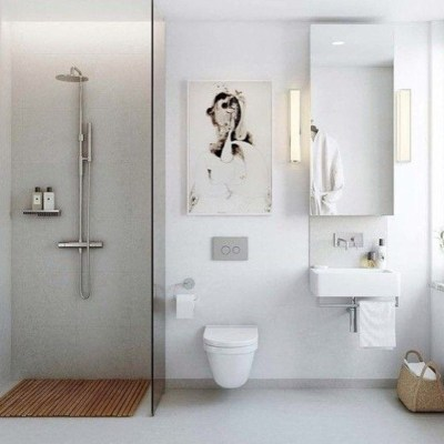 Cozy small scandinavian bathroom design ideas (33)