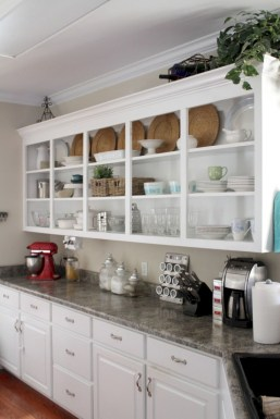Creative kitchen open shelves ideas on a budget 05
