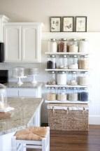 Creative kitchen open shelves ideas on a budget 14