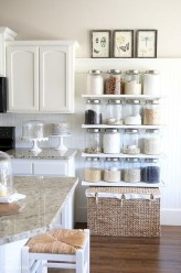 Creative kitchen open shelves ideas on a budget 14