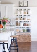 Creative kitchen open shelves ideas on a budget 16