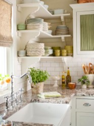 Creative kitchen open shelves ideas on a budget 17