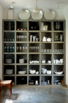 Creative kitchen open shelves ideas on a budget 18