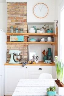 Creative kitchen open shelves ideas on a budget 20