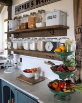 Creative kitchen open shelves ideas on a budget 21