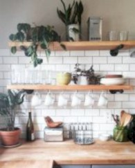 Creative kitchen open shelves ideas on a budget 23