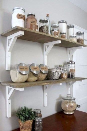 Creative kitchen open shelves ideas on a budget 26