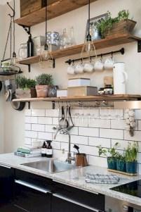 Creative kitchen open shelves ideas on a budget 34