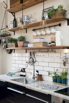 Creative kitchen open shelves ideas on a budget 34
