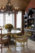 Fancy french country dining room table decor ideas 01