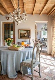 Fancy french country dining room table decor ideas 05
