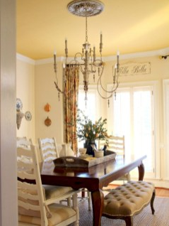 Fancy french country dining room table decor ideas 07