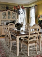 Fancy french country dining room table decor ideas 10