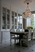 Fancy french country dining room table decor ideas 23