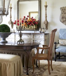 Fancy french country dining room table decor ideas 32