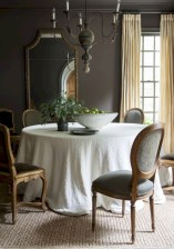 Fancy french country dining room table decor ideas 36