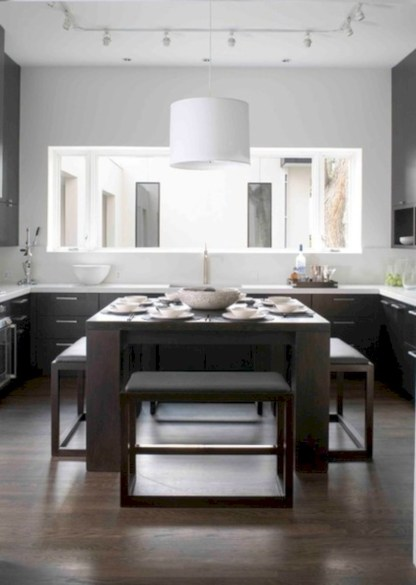 Fascinating kitchen islands ideas with seating and dining areas (13)