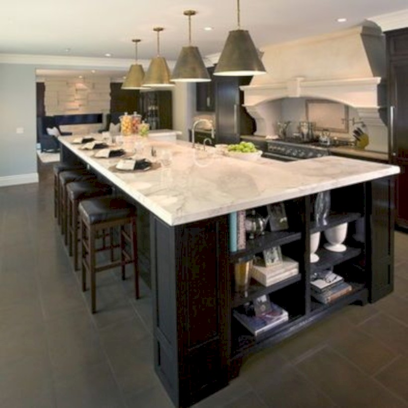 Fascinating kitchen islands ideas with seating and dining areas (16)