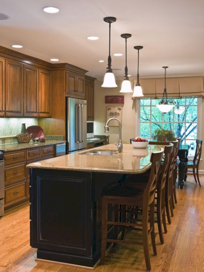 Fascinating kitchen islands ideas with seating and dining areas (2)