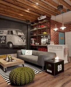 Gorgeous apartement decor men remodeling inspirations ideas (30)