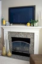 Gorgeous apartment fireplace decor ideas (10)