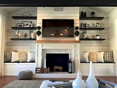 Gorgeous apartment fireplace decor ideas (14)