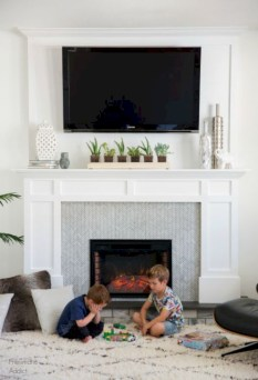 Gorgeous apartment fireplace decor ideas (20)