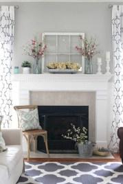 Gorgeous apartment fireplace decor ideas (31)